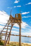 Thatched tower on Floating  Islands on Lake Titicaca Puno, Peru Stock Photography