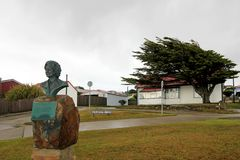 Thatcher Drive monument, Port Stanley, Falkland Islands. Islas Malvinas royalty free stock images