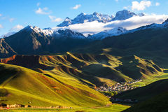 Thatcher Qinghai Qilian Mountain scenery royalty free stock images
