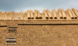 Thatched Roof with Straw and tools Royalty Free Stock Image