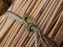 thatching тростников пачки готовый Стоковые Фотографии RF