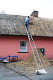 Thatching a roof Stock Photos