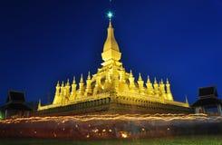 Thatluang festival i Vientiane laotiska PDR Arkivbild