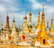 Thaung Tho Temple on Inle Lake. Myanmar. Stock Images
