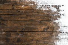 Thaw on the floor. Thaw on the wooden floor terrace in the backyard stock photo