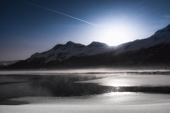 Thaw  - lake at St Moritz Stock Photography
