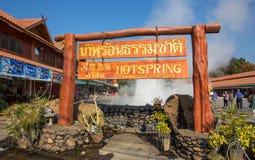 Thaweesin-heiße Quelle, Chiang Rai Province, Thailand lizenzfreies stockbild
