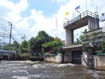Thawi Watthana floodgate Royalty Free Stock Photos