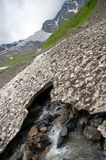 Thawing of glaciers in mountains Royalty Free Stock Images