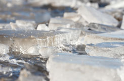 Thawing ice Royalty Free Stock Photography
