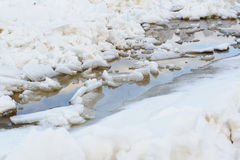 Thawing of ice. Royalty Free Stock Images