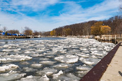 Thawing Lake Erie Ice Flow Stock Photography