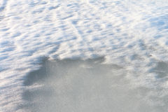 The thawing snow in the spring Royalty Free Stock Photo
