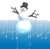 Thawing snowman Stock Photos