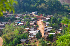 Thay village. Lahu village in North Thayland Stock Photo