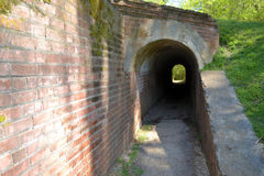 Thayer's Approach Tunnel. This tunnel replaced the one dug by Union troops under Brigadier General John M. Thayer during the siege of Vicksburg during the civil Royalty Free Stock Photos