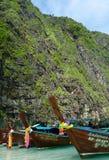 Thayland - bateau de longtail Photographie stock