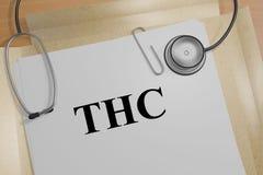 THC - concepto médico Fotos de archivo
