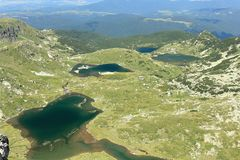View of the four of The Seven Rila Lakes royalty free stock photography