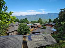 A​ small​ village​ in​ suburban area​ of​ Chiangmai​ Thailand​ royalty free stock photo