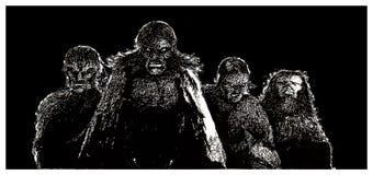 Thequatre Horesemen de l'apocalypse illustration de vecteur