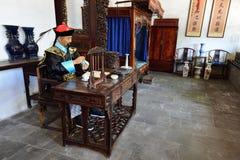 ThewaxfigureofLi Hongzhang który jest sławny w opóźnionej Qing dynastii obraz royalty free