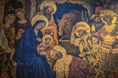 Free The Adoration Of The Magi By Gentile Da Fabriano At Uffizi Gallery Stock Images - 196412294