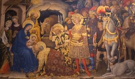 Free The Adoration Of The Magi By Gentile Da Fabriano At Uffizi Gallery Royalty Free Stock Image - 196696956