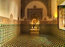 The Alhambra Palace Of Granada, Andalusia, Spain. April 2015. Stock Photos