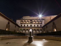 The Alhambra Palace Of Granada, Andalusia, Spain. April 2015. Royalty Free Stock Photo