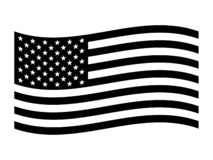 Free The American Flag, The Stars And Stripes Red, White, And Blue Old Glory The Star-Spangled Banner United States U.S. Flag. Black Stock Photos - 184973503