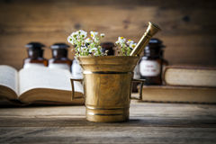 The Ancient Natural Medicine, Herbs And Medicines Royalty Free Stock Image