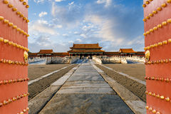 The Ancient Royal Palaces Of The Forbidden City In Beijing Royalty Free Stock Photos