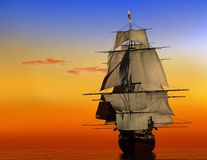 The Ancient Ship Royalty Free Stock Images