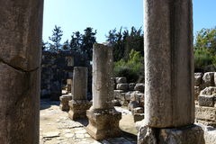 Free The Ancient Synagogue In Baram National Park. Royalty Free Stock Photos - 83674828
