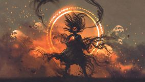 Free The Angry Sorcerer Of Evil Spirits Royalty Free Stock Photos - 153077568