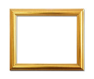 The Antique Gold Frame On The White Background. Stock Images