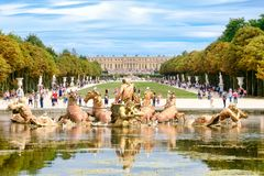 Free The Apollo Fountain And The Gardens Of The Palace Of Versailles Near Paris Stock Photos - 102080803
