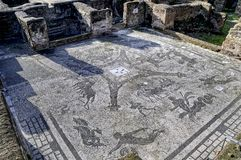 The Archaeological Site Of Ostia Antica Which Was The Old Port Of Rome In Italy Stock Photo