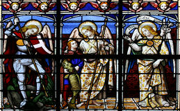 The Archangels (stained Glass Window) Stock Photo