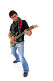 The Artist And Is Guitar. Stock Image