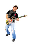 The Artist And Is Guitar. Royalty Free Stock Images