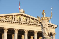 The Austrian Parliament In Vienna, Austria Royalty Free Stock Photos