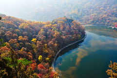 The Autumn Hills And Lake Stock Image