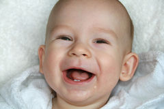 The Baby Is Dared Stock Images