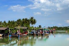 The Bangau Maritime Figureheads, Malaysia. Royalty Free Stock Images