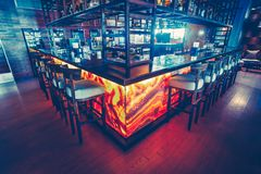 Free The Bar Counter, Equipment And The Bar Chairs. Royalty Free Stock Images - 117783889