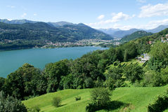 Free The Bay Of Lake Lugano At Agno Stock Photos - 58796153