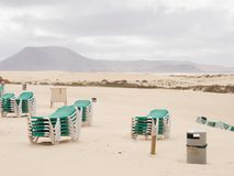 The Beach On A Windy Day Royalty Free Stock Image
