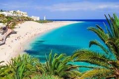 The Beach Playa De Morro Jable. Fuerteventura, Spain. Royalty Free Stock Photos